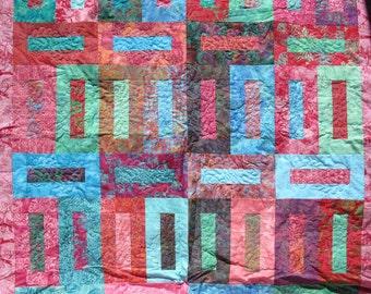 Lap Quilt - Beautiful Macaroon Batiks SALE