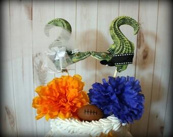 Florida Gators Wedding Cake Topper-Alligator Wedding Cake Topper-UF wedding cake topper-Alligators-University of Florida wedding cake topper