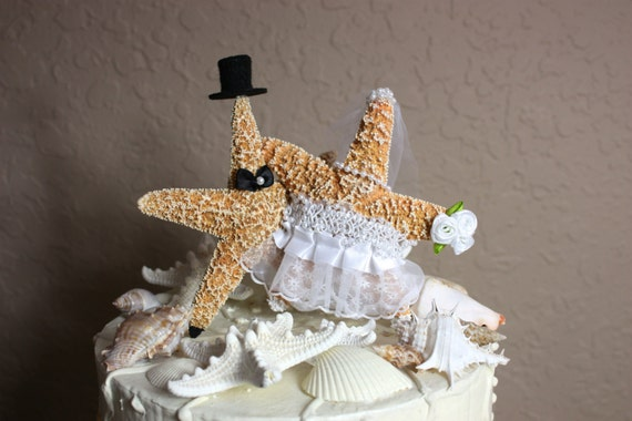 Wedding Gift Baskets For Bride And Groom Australia : Fish Bride and Groom Wedding Cake Topper-Formal-Beach Themed Wedding ...