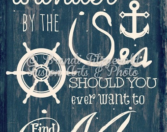 Wander By The Sea  Beach Quote Nautical Decor as seen on Zulily Product Options and Pricing via Dropdown Menu