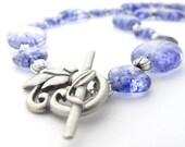 Chunky Blue Glass Necklace