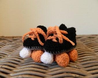 Baby roller derby rollerskates crochet baby shower gift low top roller skates multi colour color