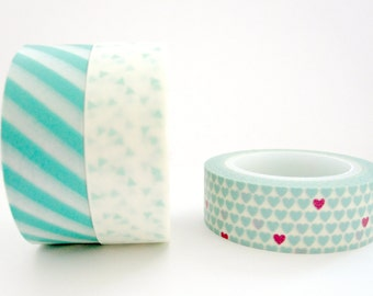 Washi Tape Set: Mint Splash