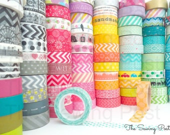 Pick 5 Whole Rolls of Assorted Washi Tapes: 158 Patterns