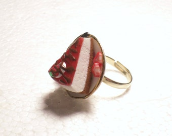 Cheesecake Ring. Polymer Clay.