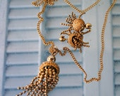 Coro Necklace Earring Set , 1960's Vintage , Mid Century , Retro Style , Beads , Valentine
