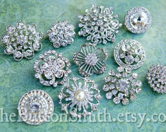 Rhinestone Buttons Mix - Large Collection - 103- 20 piece set