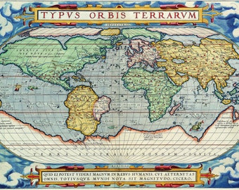 Old fashion map-Astronomical object-ancient history-old map PRINT