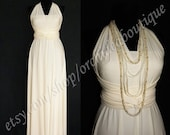 Reserved listing for Vanessa Taylor Convertible Infinity Dress Cream/Ivory and White - with a lining