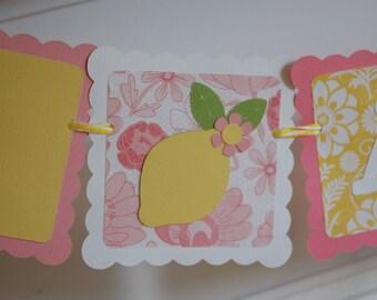 I am 1 Birthday Banner, Highchair Banner, I am 1, Pink Lemonade, Pink Lemonade Birthday, 1st Birthday
