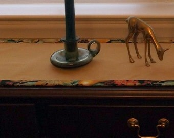 Harvest Gold Table Runner 39 inches, Spring or Fall decor
