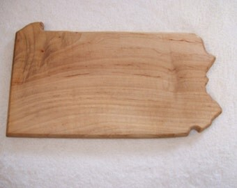 State of Pennsylvania cutting board - made from  maple