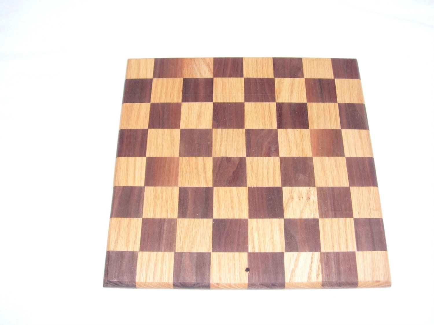 Cutting board checker design made of walnut and oak for Cutting board designs