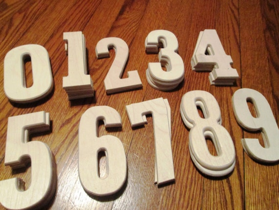Wholesale lot 34 unfinished wooden numbers baltic for Wooden craft supplies wholesale