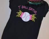 T-Ball Sister Embroidered Shirt