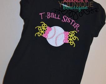 T-Ball Sister Embroidered Shirt