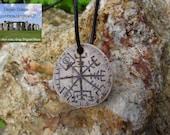Vegvisir pendant - Viking compass - Algiz pendant