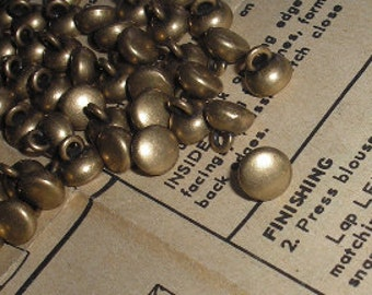 Item 016 - Buttons - 3/8 inch (9mm) Metal Shank Buttons in Antique Gold or Antique Silver- 6 per package