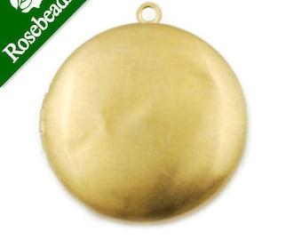 10pcs 32 MM Round,Raw Brass Locket, Blank,engraving lockets,antique lockets for sale C1284