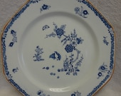 Woods Sons Wood Ware Old Bow Kakiyemon Blue and White China Plate