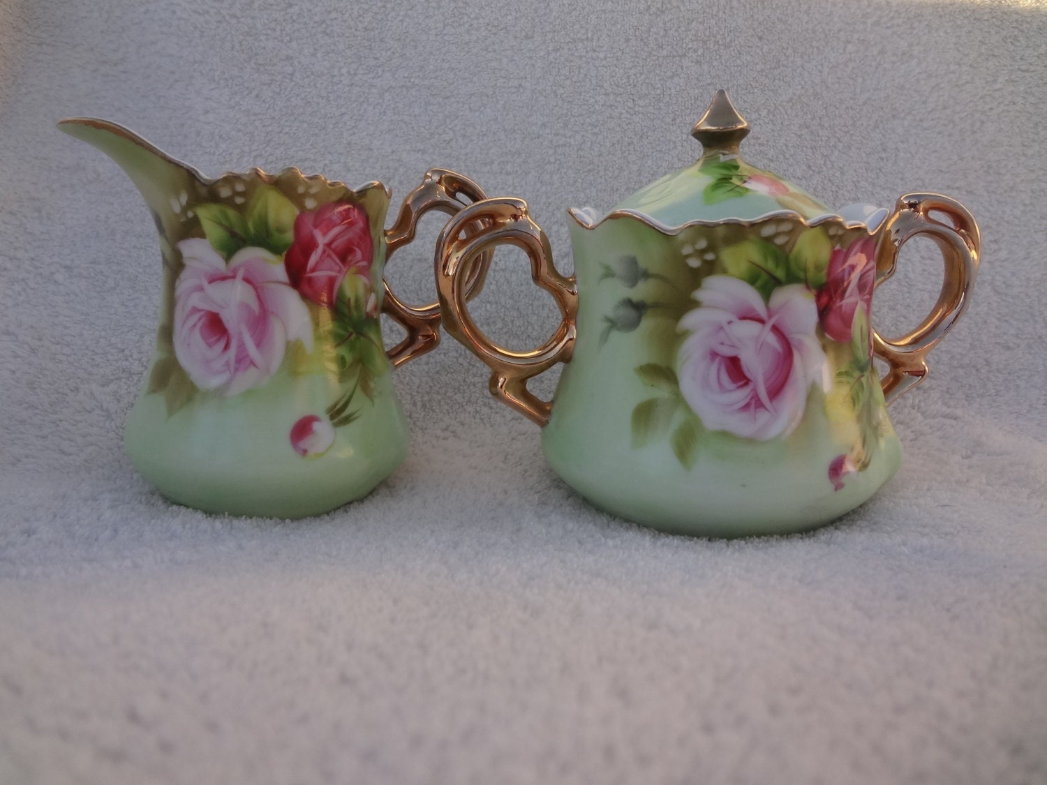 Vintage Lefton China Sugar And Creamer Set
