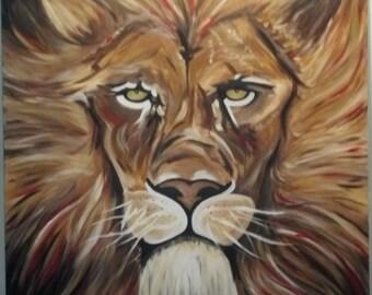 Custom made Lion Painting