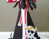 Pirate Skull Happy Birthday Party Hat