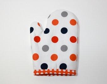 Play oven mitt for kids boys girls POLKA DOT retro modern cool gift