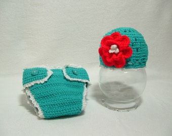 Adorable Baby Girl Outfit with Flower Diaper Cover Any Color Perfect Gift Baby Shower Photo Prop