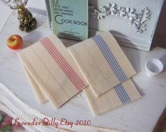 Provincial Tea Towel Set for Dollhouse, 1:12 scale