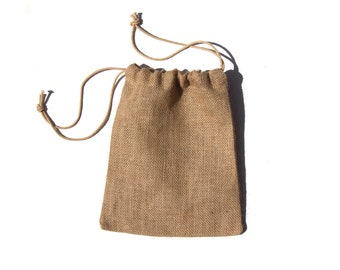 """8"""" x 10"""" Burlap Jute Bags Pouches for Wedding, Green Eco Gift Packaging, Craft Projects"""