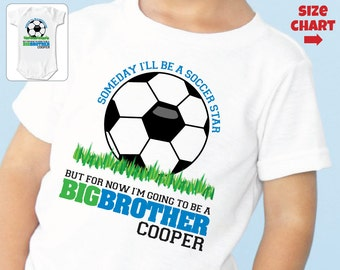 Soccer Big Brother Shirt - I'm Going To Be A Big Brother Shirt - Pregnancy Announcement Shirt