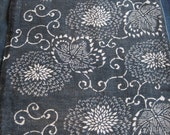Reserved for Holly Antique Japanese cotton indigo dyed katazome fabric