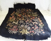 Vintage Completed Hand Crafted Wool Needlepoint on Canvas Piece