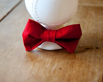 Newborn Boy Red Bow Tie  - Photography Prop -  Ready to Ship