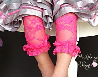 Lace Leggings, ruffle lace leggings, girl lace leggings, newborn lace leggings, lace tights, baby girl leggings, easter outfit, pettiskirt