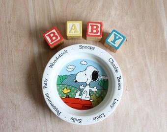 Vintage Johnson Bros. Peanuts Characters Baby Bowl
