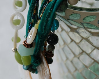 "Handmade Natural Gemstone, Sterling Silver & Copper Necklace --- ""The Storyteller"""