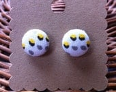 Matrix Dot Button Earrings