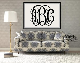 Extra Large Wall Monogram - Vinyl Wall Art
