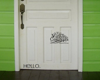 Hello. - Vinyl Wall Art