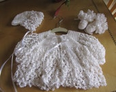 Crocheted Love Knot Sweater Set