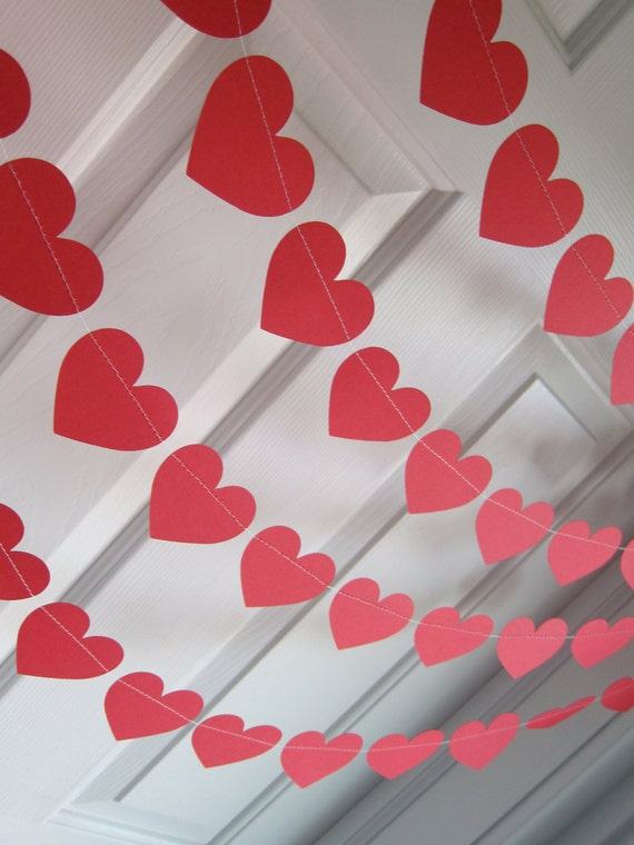 Valentine S Day Decorations Red Hearts Love By Suzyisanartist