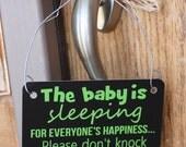 Baby is Sleeping - Door Hanger Notification