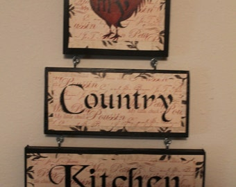 Country Kitchen Sign...Kitchen Decor..Home Decor..Country Kitchen. Rooster  Sign..Housewarming Gift..Ready To Ship.