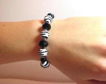 Zebra - Interchangeable Beaded Watch Band
