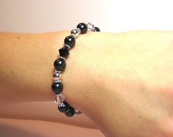Black Pearl - Interchangeable Beaded Watch Band