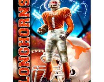 Texas Longhorns Player Fleece Throw