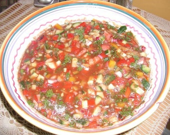 Gazpacho, Gazpacho Soup, Mexican Gazpacho Soup, PDF Recipe, cold summer soup recipe