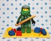 Green Ninja & Lego Cake Topper- Custom Listing for HSilcock